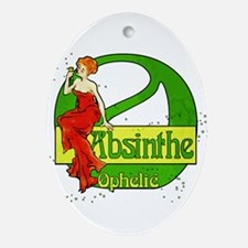Red Dress Absinthe Ophelie Ornament (Oval)