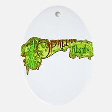 Art Nouveau Style Ophelia's Absinthe Ornament (Ova