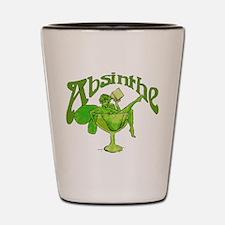 Absinthe Green Fairy In Glass Shot Glass