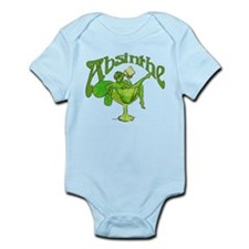 Absinthe Green Fairy In Glass Infant Bodysuit