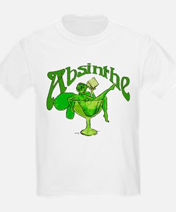 Absinthe Green Fairy In Glass T-Shirt
