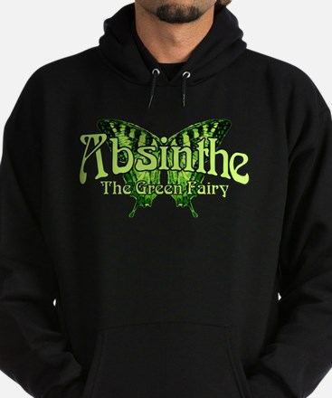 Absinthe The Green Fairy Wings Hoodie (dark)