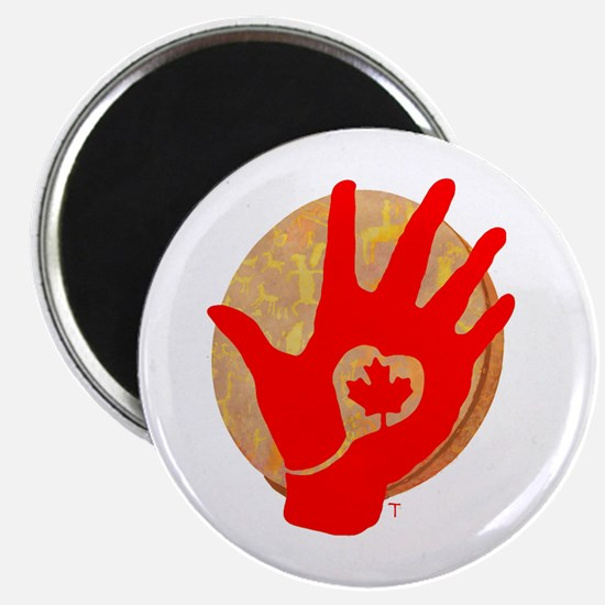 Idle No More - Red Hand and Drum Magnet