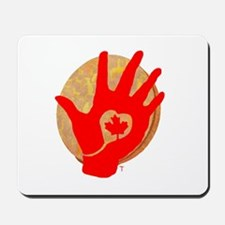 Idle No More - Red Hand and Drum Mousepad