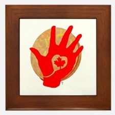 Idle No More - Red Hand and Drum Framed Tile