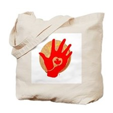 Idle No More - Red Hand and Drum Tote Bag