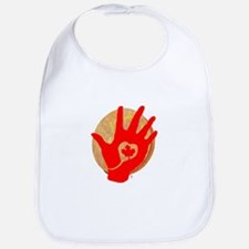 Idle No More - Red Hand and Drum Bib