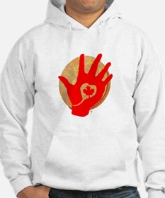 Idle No More - Red Hand and Drum Hoodie