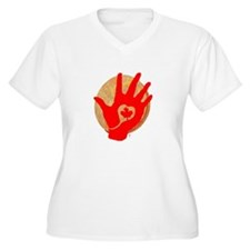 Idle No More - Red Hand and Drum T-Shirt