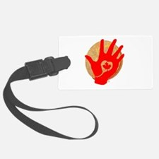 Idle No More - Red Hand and Drum Luggage Tag