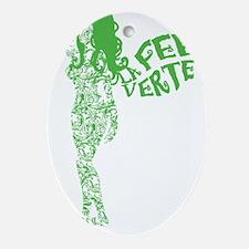 Swirly La Fee Verte Ornament (Oval)
