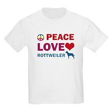 Peace Love Rottweiler T-Shirt