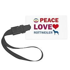 Peace Love Rottweiler Luggage Tag
