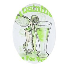 Absinthe Fairy With Glass Ornament (Oval)