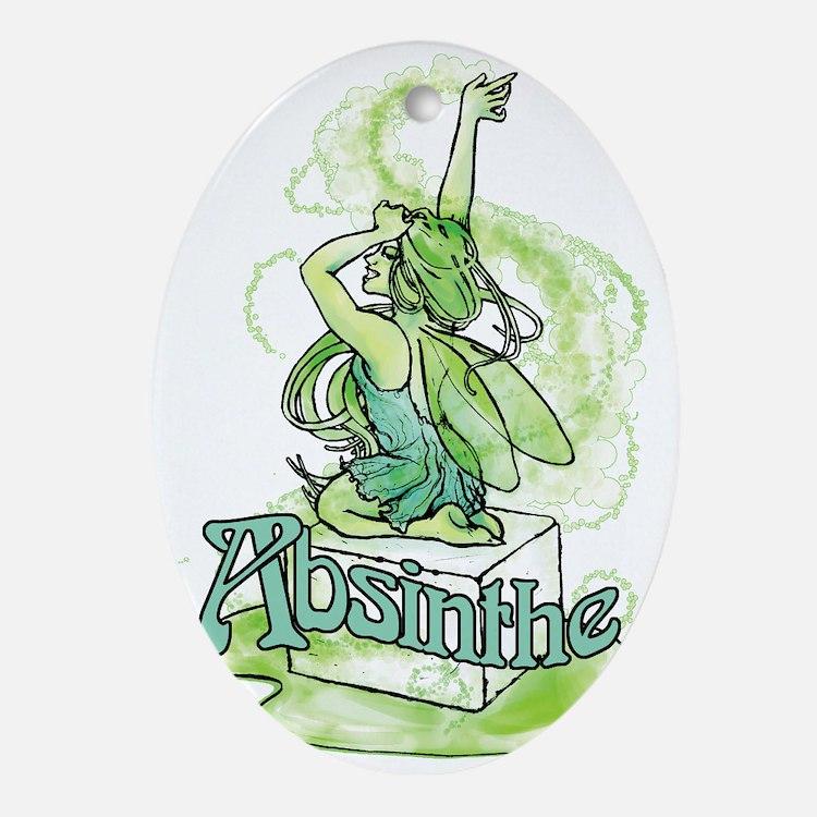 Absinthe Sugar Cube Fairy Ornament (Oval)