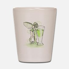 Absinthe Fairy Toying With Glass Shot Glass