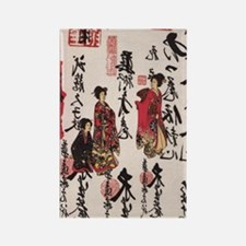 JAPANESE RENUNKUN DESIGNS Rectangle Magnet