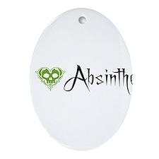 I Love Absinthe Ornament (Oval)
