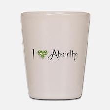 I Love Absinthe Shot Glass