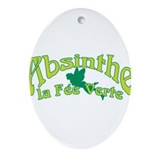 Absinthe La Fee Verte Ornament (Oval)