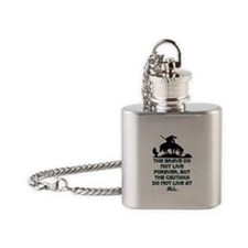 BRAVE LIVE FOREVER Flask Necklace