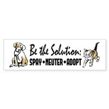 Spay Neuter Adopt Car Sticker