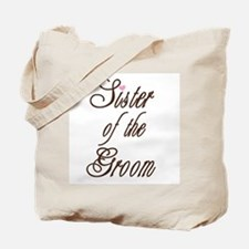 Classy Browns Sister of Groom Tote Bag
