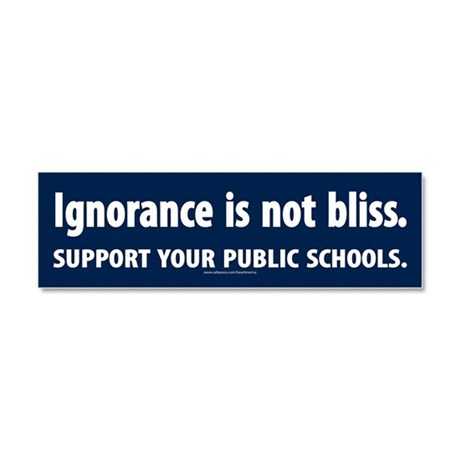 Ignorance Is Not Bliss Car Magnet 10 X 3
