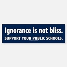 Ignorance Is Not Bliss Bumper Car Car Sticker