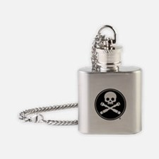Skull and Crossed Drones Flask Necklace