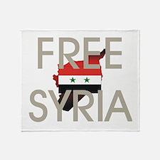 Free Syria Throw Blanket