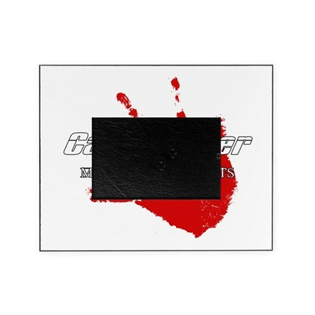 cagefighter bloody handprint WT.png Picture Frame