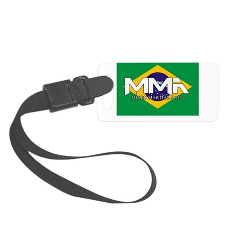 MMA Brazil Flag.png Small Luggage Tag