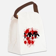 mma blood splatter 06.png Canvas Lunch Bag