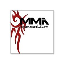 "MMA Tribal3.png Square Sticker 3"" x 3"""