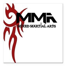 """MMA Tribal3.png Square Car Magnet 3"""" x 3"""""""