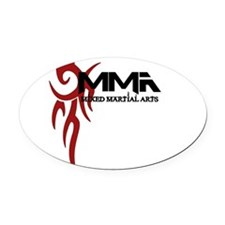 MMA Tribal3.png Oval Car Magnet