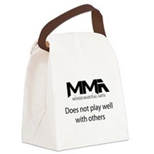 MMA Not Play.png Canvas Lunch Bag