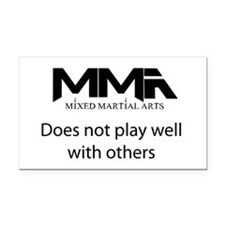 MMA Not Play.png Rectangle Car Magnet