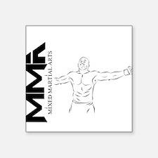 "2-MMA fighter copy.png Square Sticker 3"" x 3"""