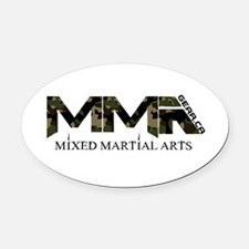 Camoflauge MMA Mixed Martial Arts Design Oval Car