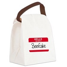 my name is beefcake.png Canvas Lunch Bag