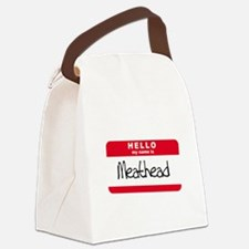 my name is meathead.png Canvas Lunch Bag