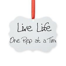 live life black.png Ornament