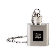 """Track Bike 1"""" Flask Necklace (black)"""