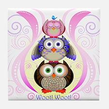 Woot Owls 2012 Tile Coaster