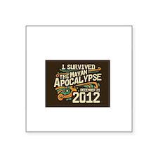 "Mayan apocalypse Square Sticker 3"" x 3"""