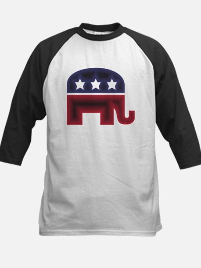 Republican Elephant (C) Kids Baseball Jersey