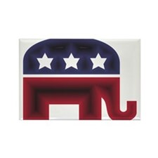 Republican Elephant (C) Rectangle Magnet