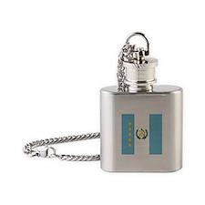Guatemalan Flag Flask Necklace
